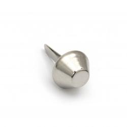 Брадс пластмаса 17x10 мм за декорация и скрапбукинг цвят сребро -10 броя