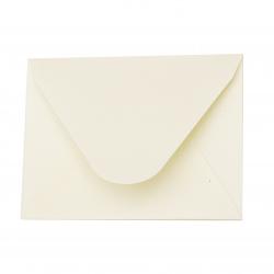 Plic pentru carte postala  sidef crem de culoare 78x110 mm