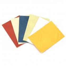 Плик за картичка перлен с релеф 78x110 мм АСОРТЕ модели и цветове
