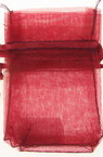 Organza Gift Bags 70x50 mm Red