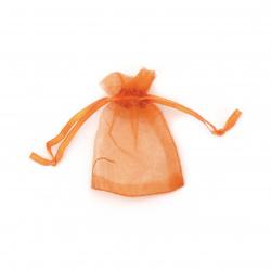 Торбичка за бижута 70x50 мм оранжева