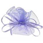Торбичка за бижута 26 см лилава с шарка