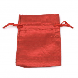 Jewelry bag 6.5x9 cm red