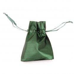Jewelry bag 6.5x9 cm green