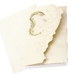Card of flowers and heart 190x125 with envelope