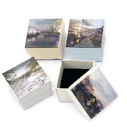 Jewellery box 50 x 50 mm  MIX