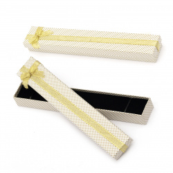 Cardboard Jewelry Box, with Satin Ribbons 40x230 mm gold