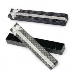 Κουτί δώρου για κόσμημα 40x230 mm μαύρο