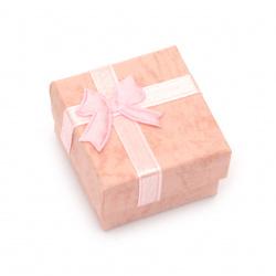Кутийка за бижута 40x40 мм розова