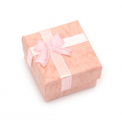 Jewelry box 40x40 mm pink