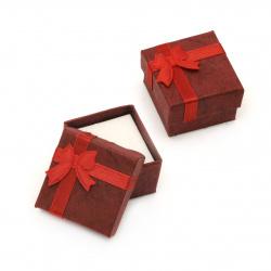 Cutie bijuterii 40x40 mm rosu