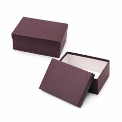 Кутия за подарък правоъгълна 26.5x19x11 см бордо