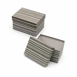 Кутия за подарък правоъгълна 18x13.5x10.5 см сива рае