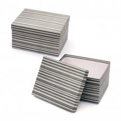 Кутия за подарък правоъгълна 24x19.5x13.5 см сива рае