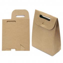 Κουτί / σακούλα δώρου, χαρτόνι κραφτ 10x16x6 εκ