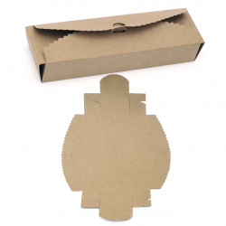Кутия крафт картон сгъваема 23x7x4 см