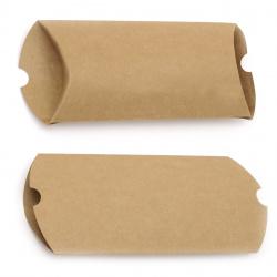 Кутия крафт картон сгъваема 21x17x11x4 см