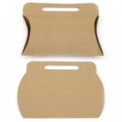 Кутия крафт картон сгъваема 22x15.5x17.5x4.5 см