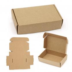 Кутия крафт картон сгъваема 11x19x4.5 см
