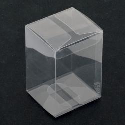 Кутия за подаръци PVC сгъваема 85x60x55 мм мека прозрачна