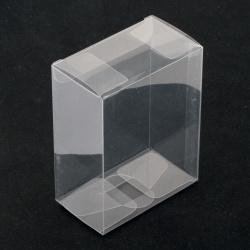Кутийка за подаръци PVC сгъваема 90x70x40 мм мека прозрачна