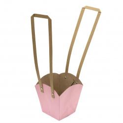 Торбичка подаръчна от крафт картон 150x95~130x95~130 мм едноцветни АСОРТЕ
