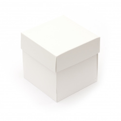 Base for exploding cardboard box 10x10 cm white -1 piece