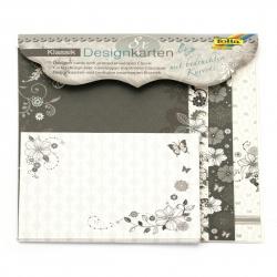 Felicitari de designer cu brocart FOLIA CLASSIC și seturi de plic -8