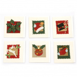 URSUS mini felicitari Crăciun realizat manual din hârtie lucrată manual cu foaie și plic suplimentar -1 bucată