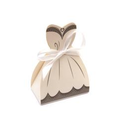 Кутия картонена сгъваема 105x50x30 мм за жена цвят бял