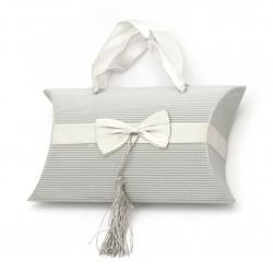 Кутия картонена сгъваема 115x205x50 мм цвят сив