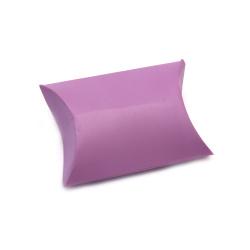 Кутия крафт картон сгъваема 6.4x9x2.5 см люляк