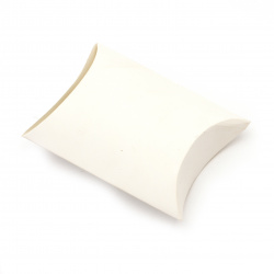 Кутия крафт картон сгъваема 6.4x9x2.5 см бяла