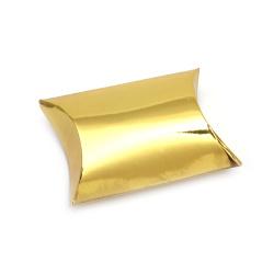 Кутия крафт картон сгъваема 7.7x13x3.5 см злато