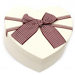 Кутия за подарък сърце 170x185x74 мм