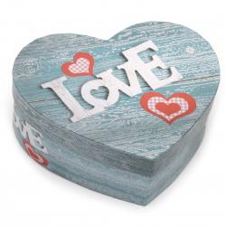 Кутия за подарък сърце 180x220x80 мм
