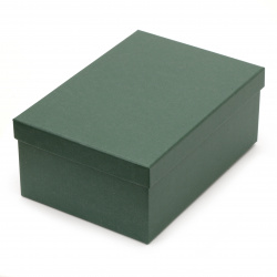 Кутия за подарък правоъгълна 24.5x17.5x10 см зелена тъмно
