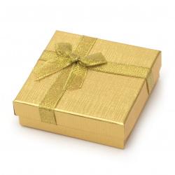 Кутия за бижута 90x90 мм злато
