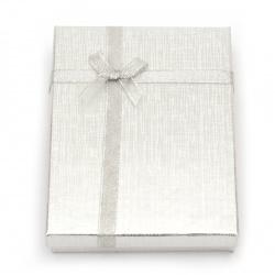 Кутия за бижута 120x160 мм сребро