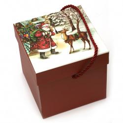 Кутия за подарък с коледни мотиви 110x110 см АСОРТЕ