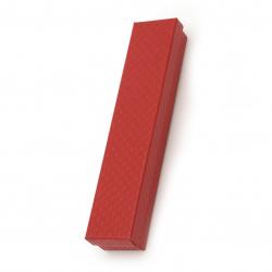 Кутия за бижута 40x210 мм червена