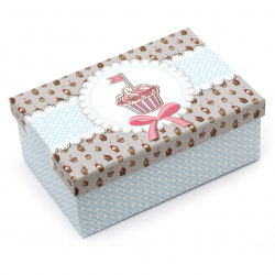 FOLIA кутия за подарък правоъгълна 18.5x12.5x7 см