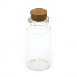 Borcan de sticlă 30x60 mm dop de plută 55 ml
