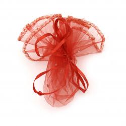 Geantă de bijuterii de 26 cm roșie cu model
