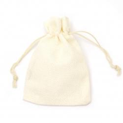 Торбичка от зебло 9.5x13.8 см крем