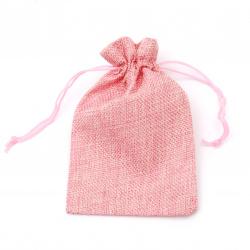 Sack bag 9.5x15.5 cm pink light