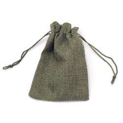 Торбичка от зебло 9.5x13.5 см сива