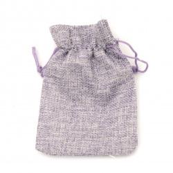 Торбичка от зебло 9.5x13.8 см лилава светло