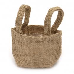 Торбичка от зебло тип кашпа 60~95x70~110 мм непромокаема с дръжки