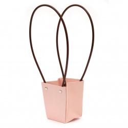 Опаковка за цветя хартиена чанта 10x9x7 см бледо розова